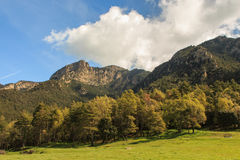 The impressive Sobrepuny seen from the valley.  royalty free stock images