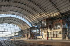 The impressive station of Haarlem, Netherlands Royalty Free Stock Image