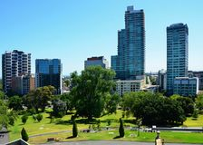 The impressive suburb of Melbourne  Interesting buildings. Views of The impressive suburb of Melbourne Royalty Free Stock Photography