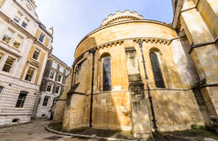 The impressive Temple Church in the City of London Royalty Free Stock Photo