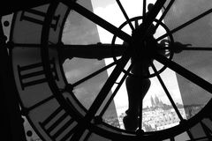Impressive time clock in Paris Orsay Museum Royalty Free Stock Photos