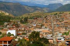 Impressive Townscape of Chachapoyas View from Mirador Luya Urco, Chachapoyas, Amazonas Region, Peru. South America stock photography