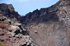 Impressive view of crater of Vesuvius volcano, Campania in Italy Royalty Free Stock Image