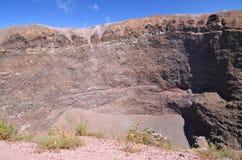 Impressive view of crater of Vesuvius volcano, Campania in Italy Stock Image