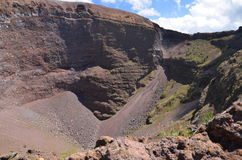 Impressive view of crater of Vesuvius volcano, Campania in Italy Stock Photo