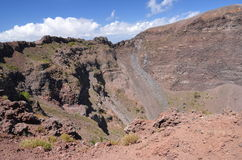 Impressive view of crater of Vesuvius volcano, Campania in Italy Stock Photos