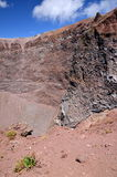 Impressive view of crater of Vesuvius volcano, Campania in Italy Royalty Free Stock Photography