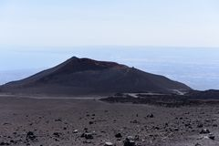 An impressive view of the Etna - the highest active volcano in Europe. Situated in Sicily Royalty Free Stock Image