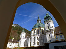 Impressive view of Ettal Abbey church, Kloster Ettal, Germany Royalty Free Stock Image