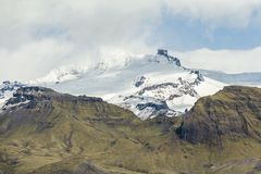Impressive view on glacier in south of Iceland stock photo