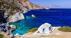 Impressive View Of Little Church,Amorgos,Greece. Stock Images