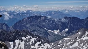 View from the Plato of the Zugspitze in Germany stock image