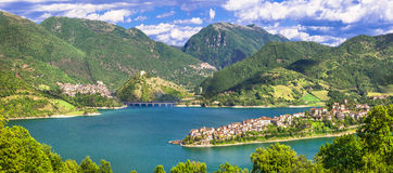 Impressive views of Turano lake Royalty Free Stock Photo