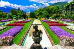 Famous botanical gardens of Villa Taranto in Lago Maggiore. Royalty Free Stock Photo
