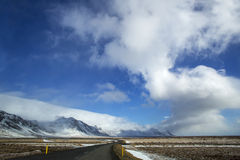 Impressive volcanic landscape at the ringroad in Iceland Royalty Free Stock Image