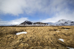 Impressive volcanic landscape on the Snaefellsnes peninsula Royalty Free Stock Photography