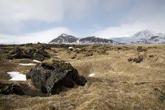 Impressive volcanic landscape on the Snaefellsnes peninsula Royalty Free Stock Image