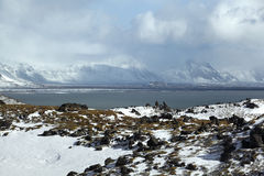 Impressive volcanic landscape on the Snaefellsnes peninsula. In Iceland royalty free stock photos