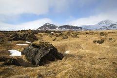 Impressive volcanic landscape on the Snaefellsnes peninsula Stock Photos