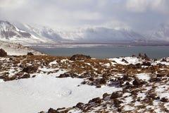 Impressive volcanic landscape on the Snaefellsnes peninsula Royalty Free Stock Photo