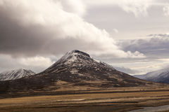 Impressive volcano mountain landscape in Iceland Stock Photography