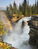 Impressive Waterfall and Raibow Royalty Free Stock Image