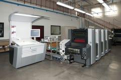 Impressão da imprensa (printshop) - offset Fotos de Stock