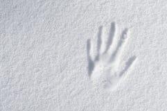 Impressão da mão Fotografia de Stock