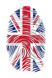 Impressão digital de Reino Unido Fotografia de Stock