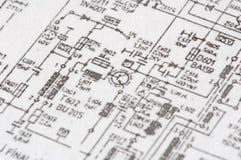 Impresso do circuito eletrônico imagem de stock