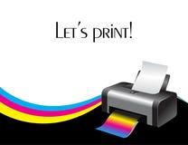 Impressora colorida ilustração royalty free