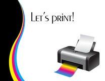 Impressora colorida ilustração do vetor