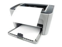 Impressora com papel imagens de stock