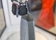 impressora 3D na cabine em ECO 2017 em Kiev, Ucrânia Fotografia de Stock