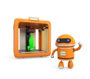 Impressora 3D pessoal compacta no fundo branco Fotografia de Stock