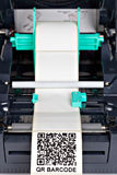 Impressora da etiqueta de código de barras fotografia de stock royalty free