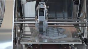 Impressora da m?quina 3d da nova tecnologia video estoque