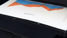 A impressora de escritório imprime cartas video estoque