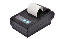 Impressora e verificação Imagem de Stock