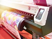Impressora grande do plotador com diodo emissor de luz foto de stock royalty free