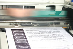Impressora no trabalho Foto de Stock
