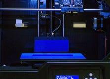 Impressora vazia da parte dianteira 3d Fotos de Stock