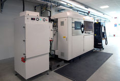 Impressoras do metal 3D & x28; DMLS& x29; Imagens de Stock