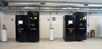 Impressoras do metal 3D & x28; EBM& x29; Imagens de Stock