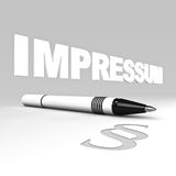 Impressum Stock Photos