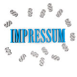 Impressum Blue Grey Royalty Free Stock Photo