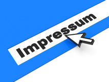 The impressum Royalty Free Stock Images