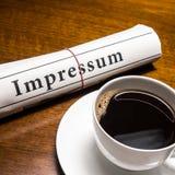 Impressum gazeta (niemiec) Obraz Royalty Free