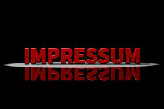 Impressum, Legal information Stock Image
