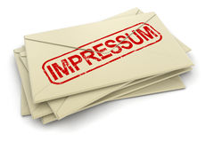 Impressum letters Royalty Free Stock Image